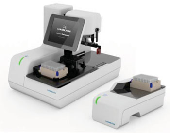 Image: New LabElite line of benchtop devices provides automated sample decapping, recapping, and identification (Photo courtesy of Hamilton Storage Technologies).