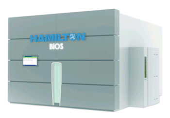 Image: The Hamilton BIOS M Ultra-low Temperature Storage System (Photo courtesy of Hamilton Storage Technologies).