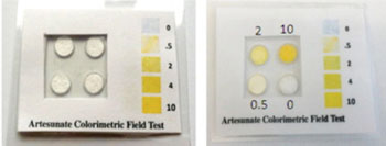 Image: The Artesunate Field Test Kit (Photo courtesy of Oregon State University).