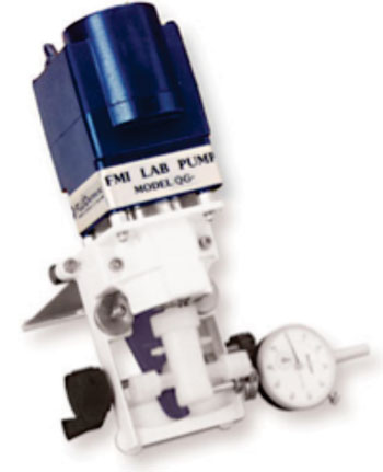 Image: The QG line of pumps is ideal for general laboratory and industrial use (Photo courtesy of Fluid Metering, Inc.).