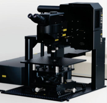 Image: The FLUOVIEW FVMPE-RS Gantry microscope (Photo courtesy of Olympus).