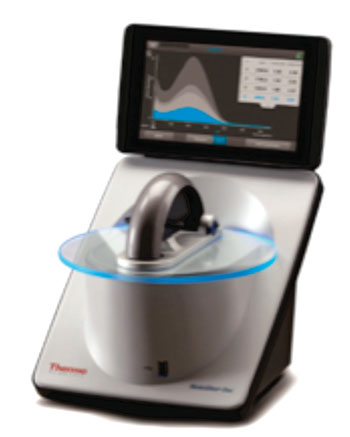 Image: The NanoDrop One UV-visible microvolume spectrophotometer (Photo courtesy of Thermo Fisher Scientific).