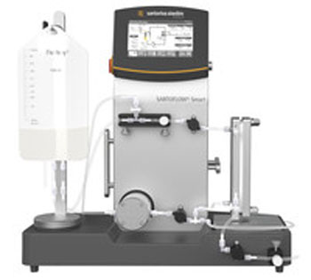 Image: SARTOFLOW Smart is an easy-to-use benchtop cross-flow system for optimized ultrafiltration and diafiltration applications (Photo courtesy of Sartorius Stedim Biotech).
