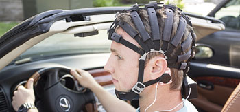Image: The Cognionics wearable 72-channel EEG headset (Photo courtesy of Cognionics).